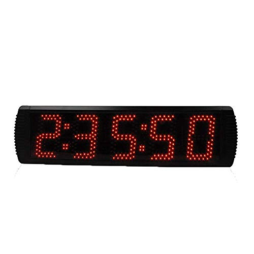 ZhenHe Despertadores LED digital de gran tamaño digital LED reloj de cuenta atrás Countdown Minutos Segundos de temporización del temporizador de cuenta atrás con control remoto (Color: Negro, Tamaño: