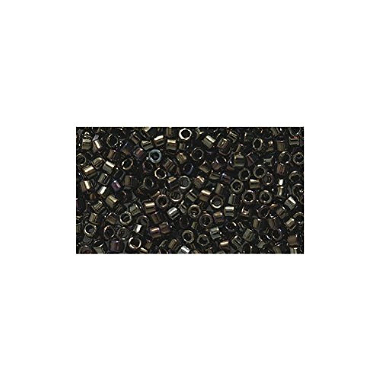 Miyuki Delica Seed Bead 11/0 DB007, Metallic Brown Iris, 9-Gram/Pack