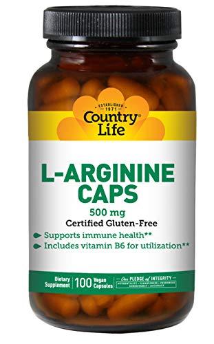 L-Arginina Caps, 500 mg, 100 Caps Veggie - Vida en el campo