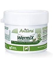 AniForte WermiX en polvo para perros 20 g - producto natural para antes, durante y después de la infestación de gusanos, el ajenjo y las hierbas naturales ayudan al estómago y el intestino