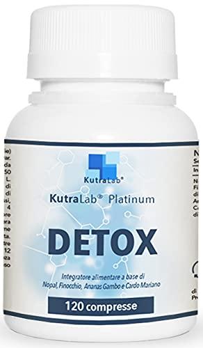 Detox Platinum di KutraLab | Dimagrante Forte | Eccezionale Per Drenare E Depurare | 120 cpr Brucia Grassi Potenti Veloci Per Perdere Peso | Eccezionale Per Pancia Piatta | Termogenico Naturale
