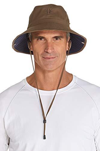 Coolibar UPF 50+ Chapeau bob léger pour Homme – Protection Anti-UV – Taille Unique, Kaki/Bleu Marine