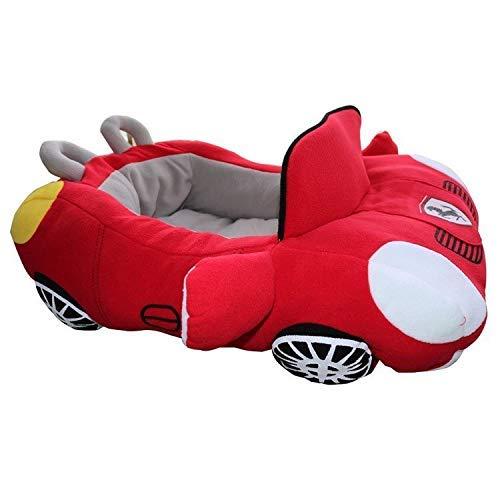 自動車型 ペットベッド ソファ マット 猫 犬 かわいい ペットベッド ベンツ でお昼寝!猫 犬 かわいい ハウス 車 ペット用品 ふかふか 室内 暖かい (レッド)