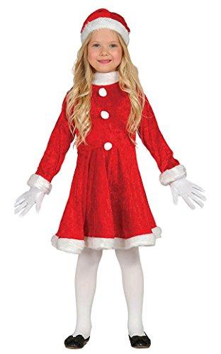 Guirca – Déguisement Fille Père Noël, 5 – 6 ans, Couleur Rouge (42832.0)