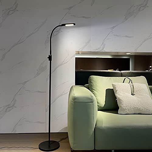 LED Floor Lamp , Adjustable Floor Light, Standing Lamp with Flexible Gooseneck ,Dimmable Standing Reading Lamp, 3 Color Temperatures &Warm White,Natural White,Cold White