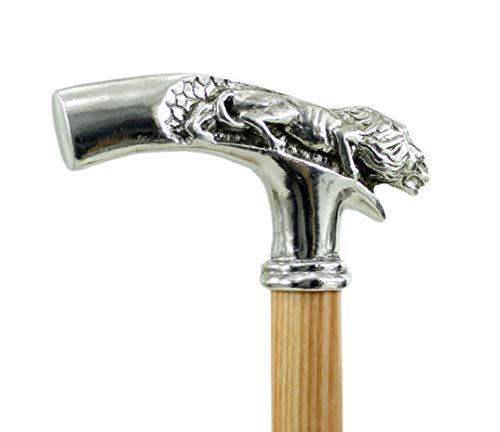 Gehstöcke, Schädel für elegante Frau in Holz und Zinn für den Vintage Mann handgemacht in Italien Cavagnini
