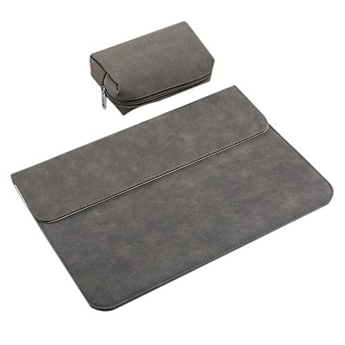 Senmubery Laptop Protective Sleeve, Ultra-Thin Frosted Portable Laptop Protective Sleeve Inner Bag with Power Pack For Gray