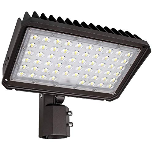 Kadision 200W LED Flood Light with Adjustable Slipfitter Mount - 2 3/8 in, Dusk to Dawn Commercial Parking Lot Lights Daylight 5000K 26000lm, Waterproof Outdoor Area Lighting Fixture 100-277V