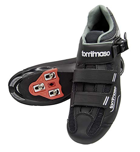 Tommaso Strada 200 Dual Cleat Compatible Spin Class Ready Bike Shoe - Look Delta - 47 Black