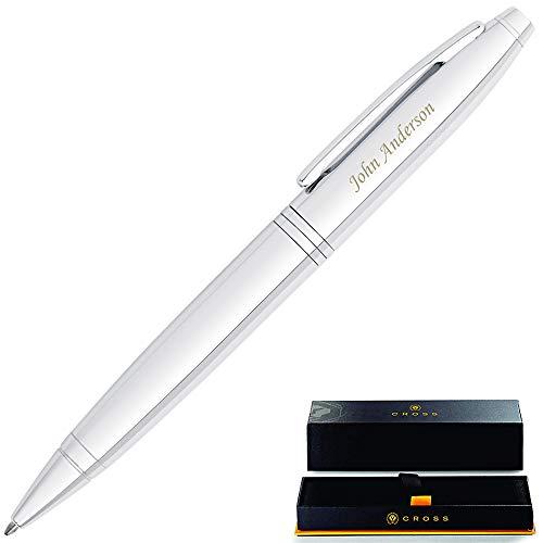 Personalized Cross Pen   Cross Calais Ballpoint Pen, Lustrous Chrome....