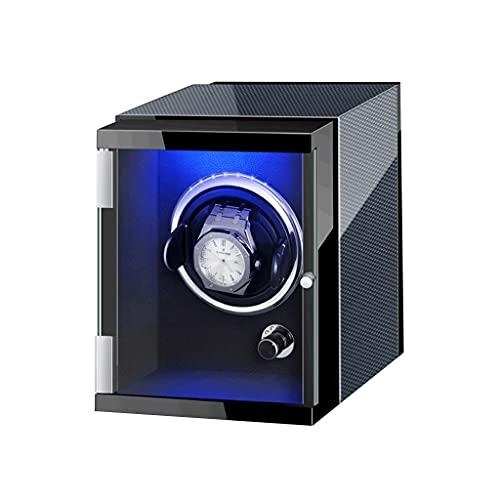 WRNM Único Cajas Giratorias para Relojes Motor Silencioso Alimentado por Batería O Adaptador CA Caja Almacenamiento Lujo De Madera