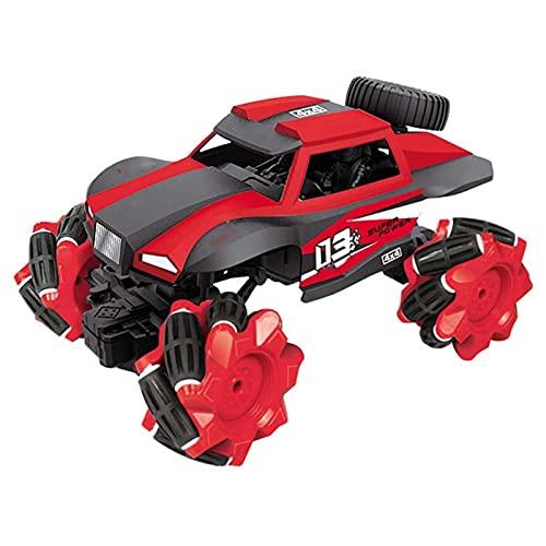 UOOD Camión de Control Remoto, Sensación de Gesto de Giro 360 ° Alta Velocidad Terrenos Electric Toy Off Road RC Coche de vehículo Monstruo niños (Color : Red)