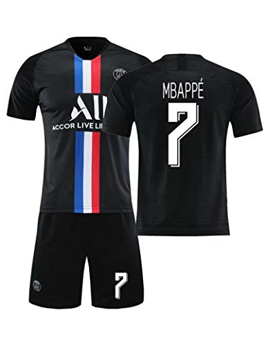 SUSIE Pariser Fußballtrikot, 20-21 Heim- und Auswärtstrikot für Herren, Mbappé # 7-Trikot, Kurzarm-Fußballtrainingsanzug für T-Shirts für Erwachsene und Kinder