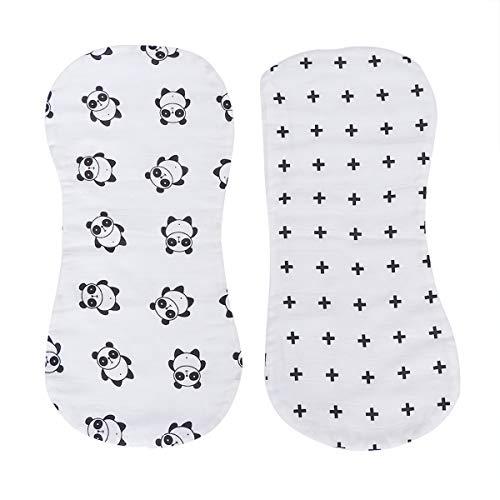 SUPVOX Panni Rutto Burp in cotone bavaglini bandana per neonato 2 pezzi (segno Panda e Plus)