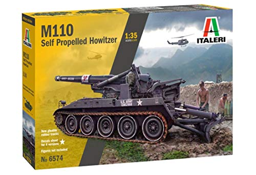 Italeri 6574S, originalgetreue Nachbildung, Modellbau, Basteln, Hobby, Kleben, Plastikbausatz, Zusammenbauen 1:35 M110 Self Propelled Howitzer