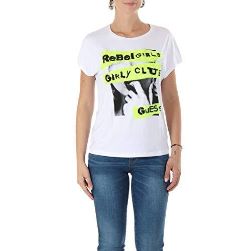 Guess W0YI95K68D0 - Camiseta, blanco, Small