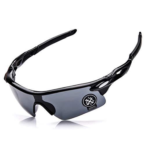 Ndier - Gafas de sol anti UV 400, gafas de sol deportivas cortavientos para hombre y mujer para bicicleta, moto, senderismo, pesca, esquí, correr, etc. Color negro