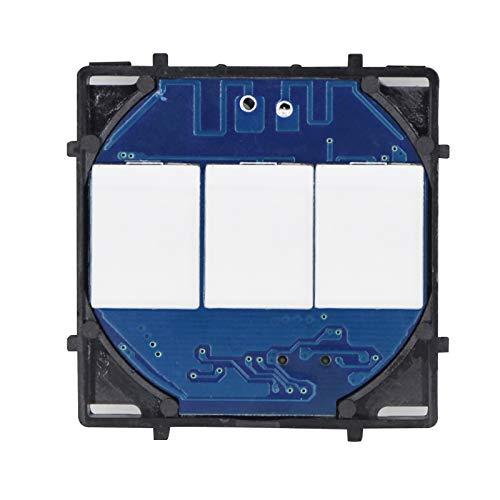 BSEED Smart Lichtschalter EU Standard 3 Fach 1 Weg Touch Lichtschalter mit LED-Anzeige für DIY-Produkt