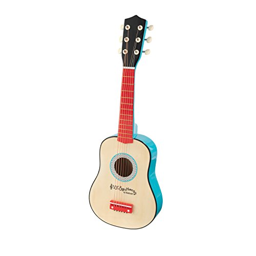 KidKraft Lil' Symphony Wooden Play Guitar, Kids Musical Instrument Toy, Multi