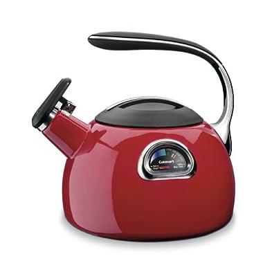 Cuisinart PTK-330R PerfecTemp Porcelain Enameled Teakettle, Red
