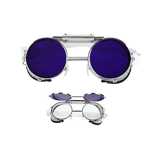 Gafas industriales, gafas protectoras de protección contra tirones. Gafas protectoras de laboratorio para soldadores eléctricos, trabajadores auxiliares de soldadura, etc.