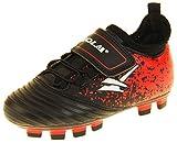 Chaussures de football Gola Ativo 5 pour garçons et filles - Noir - noir/rouge/blanc, 27 EU