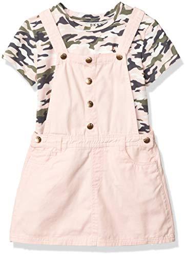 DKNY Girls' Skirt Set, Skirtall Strawberry Cream, 6