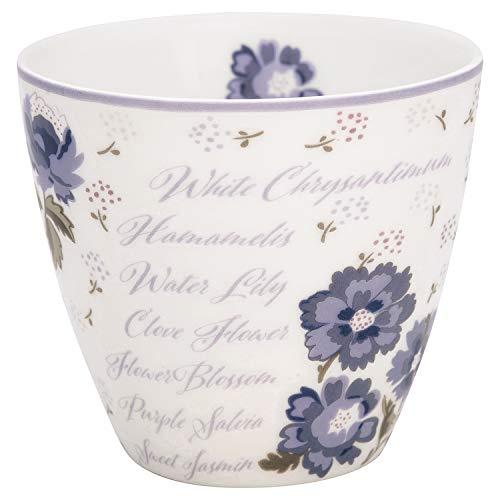 GreenGate - Becher, Tasse, Latte Cup - Beatrice - Porzellan - weiß - 300 ml