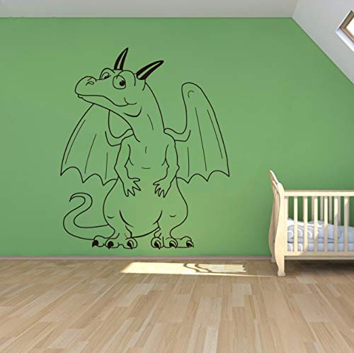 stripverhalen kunst draak sprookje monster vinyl sticker huis decoratie kinderen kinderkamer verwijderbare muur stickers 58 * 70 cm