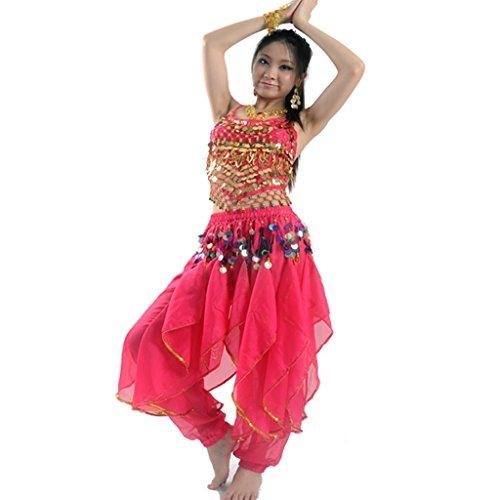 Best Dance, Bauchtanz-Kostüm-Set für Damen, Oberteil und Hose