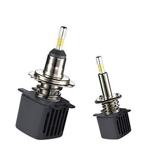 Yunjingchenman Lámparas H7 2 piezas de coches LED llevó la linterna de los bulbos CSP chip de LED H11 6500K 9006 HB4 9005 HB3 H8 LED H1 10000LM H4 Hi/Lo Beam (Socket Type : 9005/HB3)