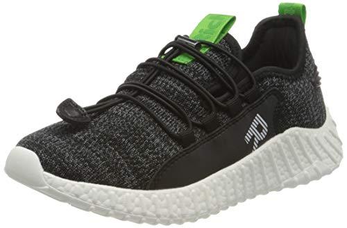 Richter Kinderschuhe Taylor Sneaker, Schwarz (Black/Green 9900), 40 EU