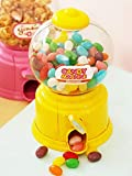 Magnusdeal Cute Yellow Round Mini Candy Bubble Gumball Jelly Beans Sugar Sweets Vending Machine Snack Dispenser Coin Bank (Candy Gumball Not Included) , Standard