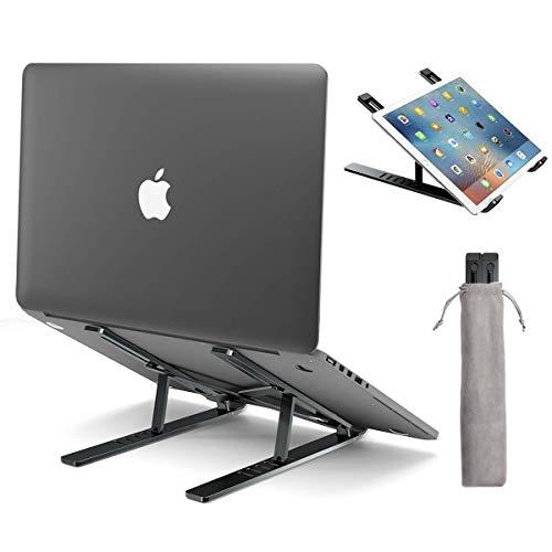 licheers Laptop Stander hohenverstellbarer Aluminium Notebook Stand tragbarer Laptopstander Halter Halterung Riser mit Magnet fur alle 10156 Notebooks Grau