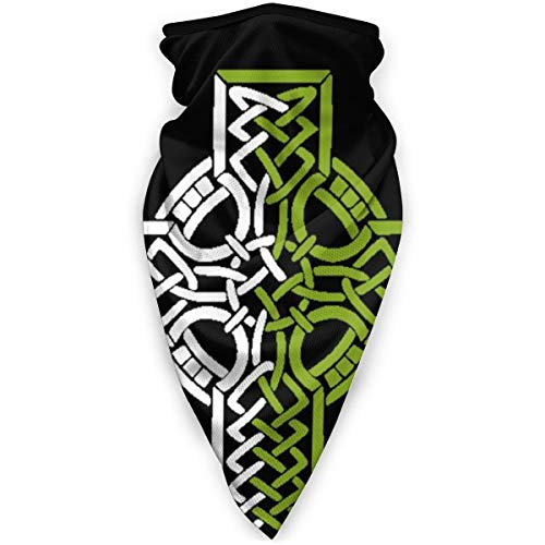 Nordic Celtic Cross Viking Mask Sports Windproof Bandana Face Mask Neck Gaiter Headband, Balaclava Black