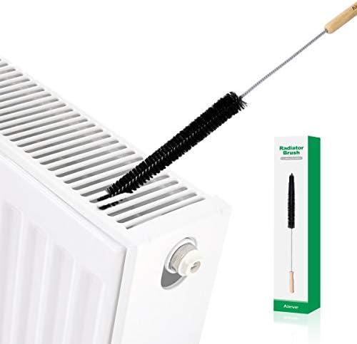 AIEVE Radiator Cleaner Brush , 70CM Radiator Brush , Flexible Long Radiator Duster with Wood Handle , Multipurpose Cleaning Brush for Radiator & Dryer Lint & Washing Machine