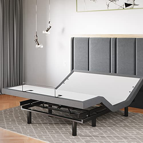 Sven & Son Queen Adjustable Bed Base Frame 5 Minute Assembly, Head & Foot Articulation, USB Ports, Zero Gravity, Interactive Dual Massage, Wireless, Classic (Queen)