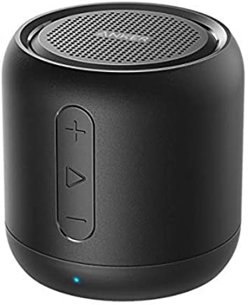 Bluetooth Speaker, Anker SoundCore mini, Super Portable Speaker with 15-Hour Playtime, 20 Meter Bluetooth Range, Enhanced Bass, works with iPhone, iPad, Samsung, Nexus, HTC, Laptops and More