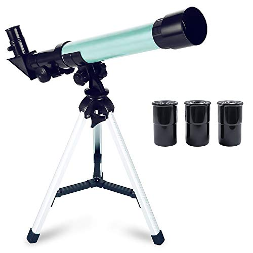 Scientoy Telescope for Kids, Portable Toy Telescope for Beginners with 3 Magnification Eyepieces & Tripod, Early Science Educational Toys for 4, 5, 6 Children, 60mm Aperture Telescope - A STEM Gift