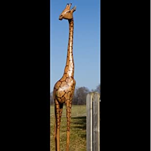 "African wooden giraffe ""Samia"" in different sizes HAND-MADE out of ZIMBABWE African decoration High Quality, 250cm:Peliculas-gratis"