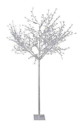 LED-Dekobaum weiß Aussen IP44 Outdoor-LED-Baum 600 LED, 1200 Lumen, LED-Baum, Lichtbaum Höhe 250 cm Terrasse Advent Weihnachten Kirschblütenbaum Garten-Beleuchtung Leuchtbaum kaltweiss, 18 W