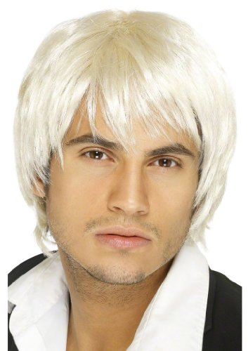 Perruque boys band blonde homme