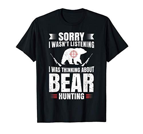 Funny Bear Hunting Lover Fan Hunter Hobby Gun Wildlife Gift T-Shirt