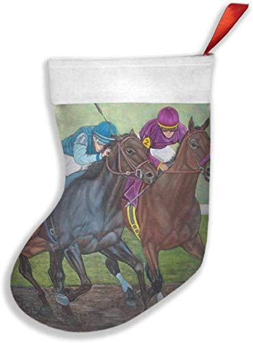Kagoroo Medias Navideñas Decoración Adorno Colgante Oil Painting Horse Racing Christmas Stockings Party...