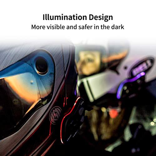 LEXIN FT4 Helm Intercom, Motorrad Headset Bluetooth Helm Gegensprechanlage bis zu 4 Fahrer Kommunikation Geräuschunterdrückung Reichweite von 2000 Metern mit FM, Siri, S-Voice für Fahrrad, Skifahren - 6