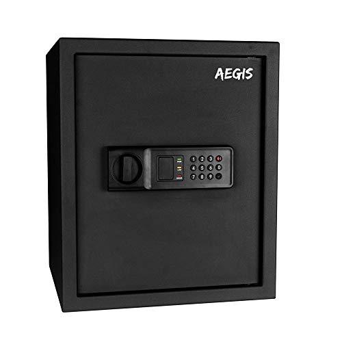 Caja fuerte electrónica de 1.37 CF – Caja de seguridad con teclado y llave digital para hotel, oficina en casa