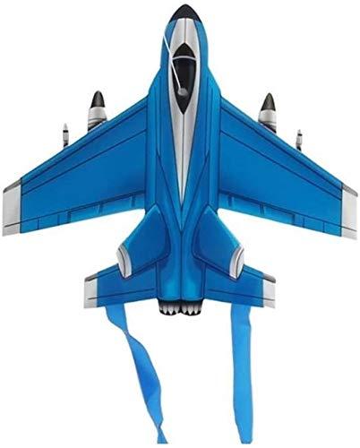 Forte e Robusto Aquilone, Bambini Kite Belle Aquiloni for Kids Facile da pilotare for la Spiaggia Outdoor 3m Triangolo qualità Kite Scheletro Duro (Colore: Giallo) (Color : Aircraft Random)