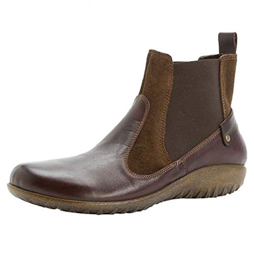 NAOT Women's Konini Ankle Boots, Brown, Leather, 38 M EU, 7, 7.5 M
