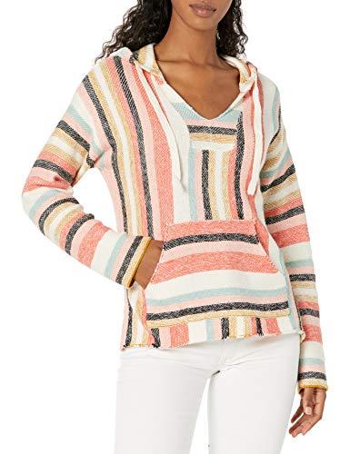Rip Curl Damen Seaport Stripe Poncho Pullover, Multi, X-Groß