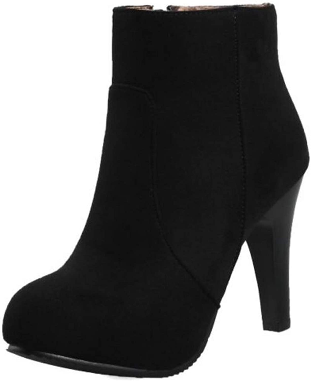 Cocey Women Fashion High Heel Ankle Boots Black